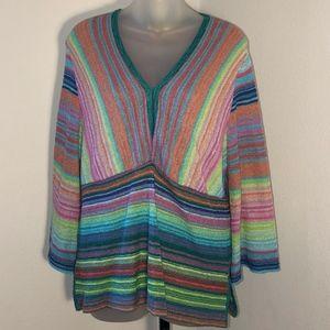 Sigrid Olsen • Striped Knit Top